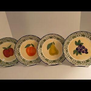 "Fruit Plates 8 1/4"" Certified International Corp."